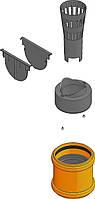 Комплект аксессуаров 2 для чёрного желоба HAURATON TOP