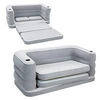 Bestway велюр-диван 75063(200*160*64 см )