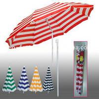 Зонт пляжный полосатый 2,5 м, фото 1