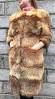 Пальто из меха рыжей лисы с рукавом 3/4, фото 1