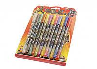 Гелевые ручки 12 цветов Transformers в блистере (с блестками)