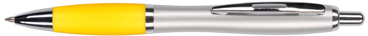 Ручка пластиковая VIVA PENS Slim серебристо-желтая