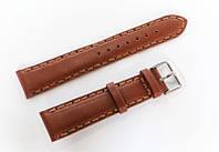 Ремешок кожаный Italian Classic для наручных часов, коричневый, 20 мм