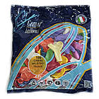 Воздушные шары Gemar, расцветка: Пастель, форма: Фигурные, Сердце ассорти, Диаметр 16 см, 100 шт., фото 2