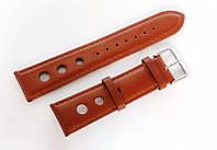 Ремешок кожаный Italian Classic для наручных часов, коричневый, 22 мм