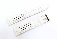 Ремешок кожаный Italian Classic для наручных часов, белый с перфорацией, 20 мм