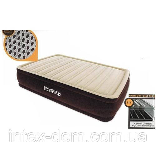 Bestway велюр-кровать 67492 (191*97*43,см) с встроенным насосом 220V