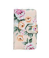 Чехол-книжка Book Case для Samsung J110 White flowers
