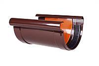 Соединитель желоба с вкладкой PROFiL 130/100 коричневый