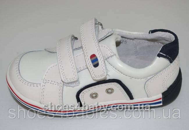 Кроссовки кожаные белые р. 25 - 16см TM B&G BG13А3-398W