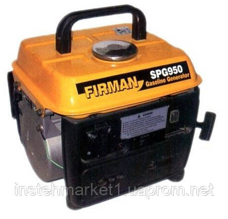 Бензиновый генератор (электростанция) FIRMAN SPG 950 (650 Вт-750 Вт)