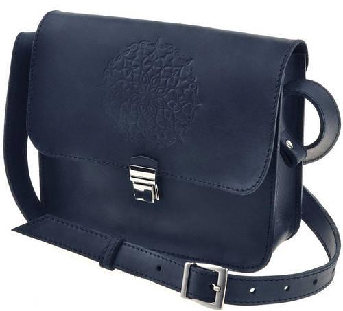 Качественная женская мини-сумка из натуральной кожи BlankNote Лилу BN-BAG-3-nn-man ночное небо
