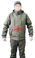 Куртка тактическая под пистолет Soft-shell Olive