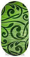Зеленый ковер овальной формы Jasminе