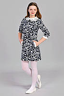 Классическое подростковое платье с ажурным воротником