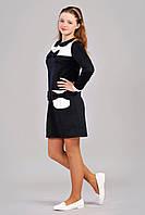 Стильное подростковое платье с бантиками