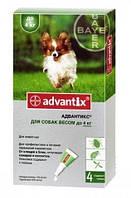 Advantix (Адвантикс) Капли от блох и клещей для собак весом до 4 кг