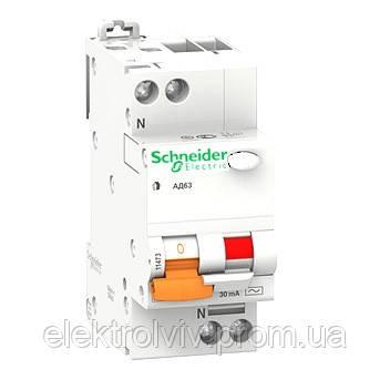 Дифференциальный автоматический выключатель 25А 2р 30мА
