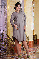 Д1056 Платье  лен размеры 50-56 в расцветках, фото 2