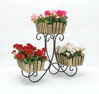 Подставка для цветов Сани 3 Горка Кантри