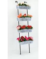 Подставка для цветов Лестница 4 Кантри