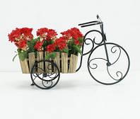 Подставка для цветов Велосипед 1 малый Кантри