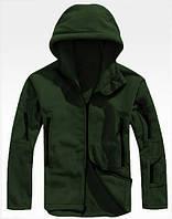Мужская Флисовая куртка цвета хаки