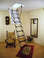 Чердачная лестница OMAN Nozycowe (70x70) короб-дерево