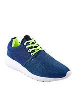 Женские синие кеды  -4075