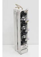 Подставка для вина Прованс на 4 бутылки белая