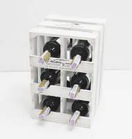 Подставка для вина Прованс Ящик Вертикальный на 6 бутылок белый