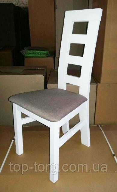 Стул деревянный Бруно Т белый, с твердой спинкой и мягким сиденьем