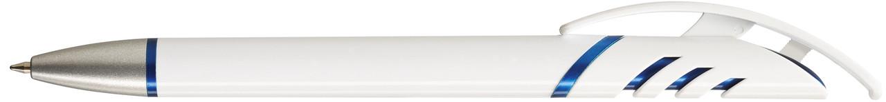 Ручка пластиковая VIVA PENS Starco Metallic бело-синяя