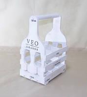 Подставка для вина Прованс Бокал на 6 бутылок белый