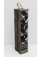 Подставка для вина Прованс на 4 бутылки коричневая