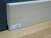 Плинтус деревянный шпонированный Тратлайн Дуб мелованый светлый 82*16*2400 мм