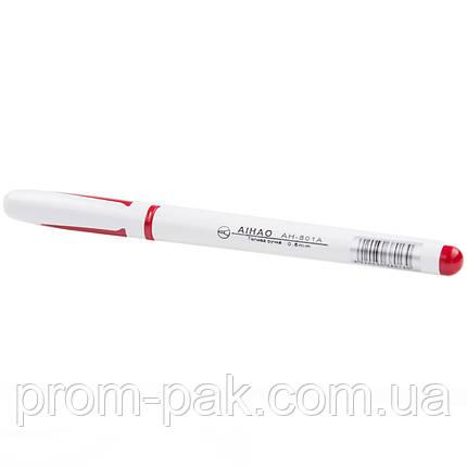 Ручка гелева AIHAO 801-A червона, фото 2