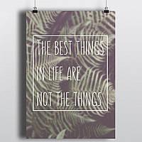 "Постер ""The best things"""