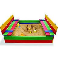 Детская цветная песочница