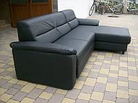 Новый кожаный угловой диван, раскладной. арт 1441