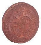 """Люк """"Garden"""" полимерпесчаный коричневый (1т) р.590/720"""