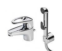 Oras Cмеситель для умывальника с рычажным донным клапаном и ручным душем Bidetta.