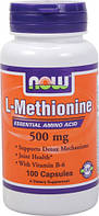 L-Метионин, L-Methionine, Now Foods, 500 мг, 100 капсул