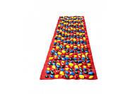 Массажный коврик с цветными камнями 200 х 40 см сплошное покрытие