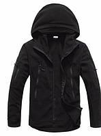 Мужская флисовая куртка (черная)  Плотность флиса 400г/м