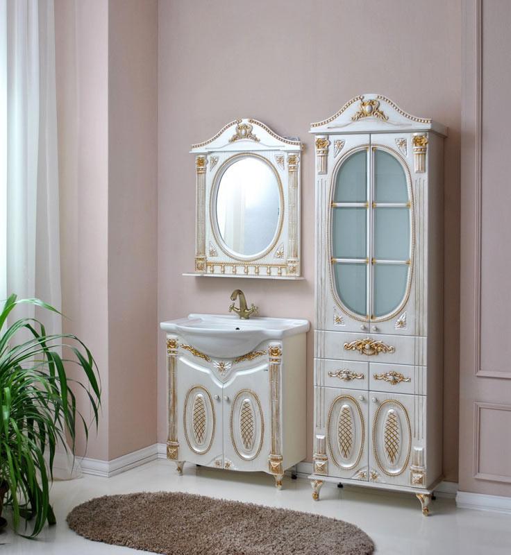Комплект мебели Ольвия (Атолл) Наполеон-75 белый жемчуг патина золото