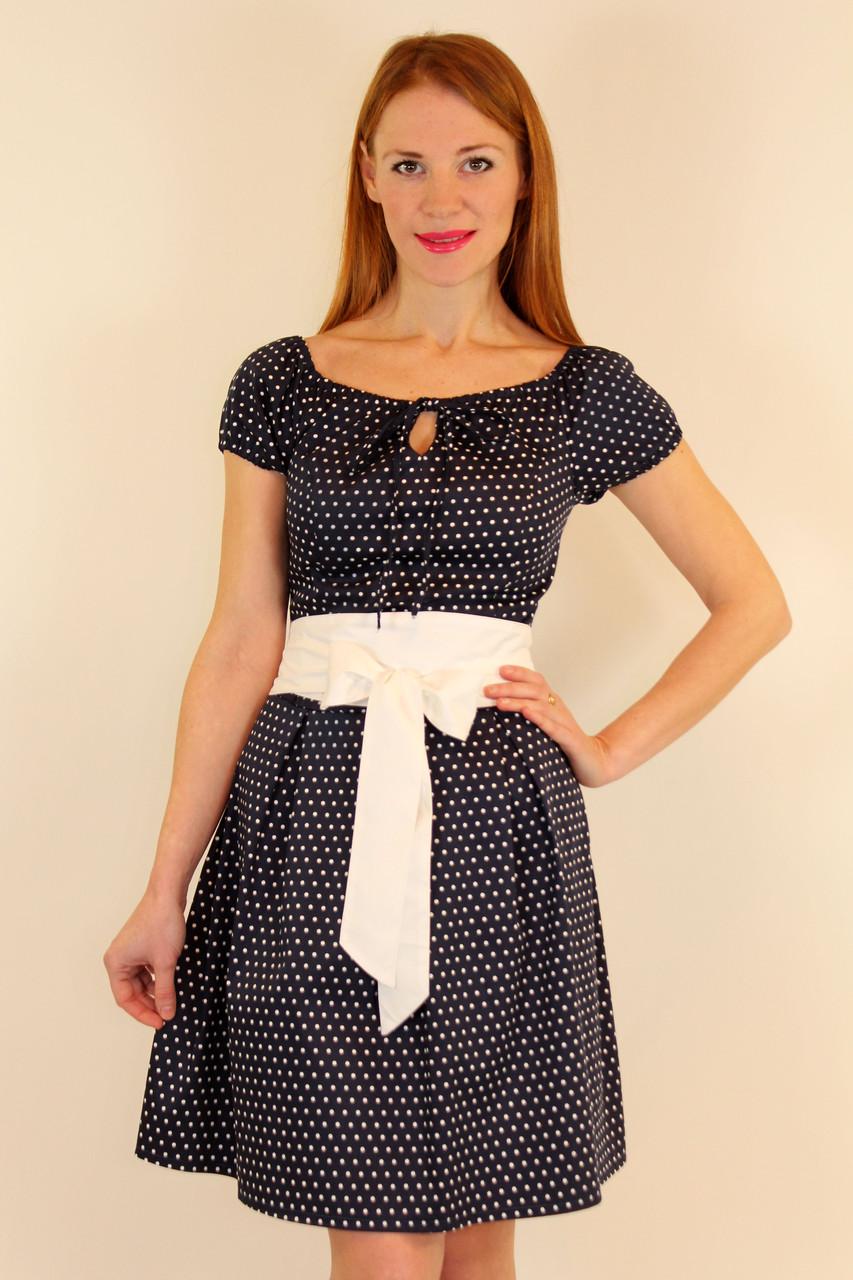Платье женское стильное в горох 42-48 р