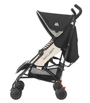 Детская коляска-трость Maclaren Quest Sport Railroad Stripe Black/Sand, фото 2