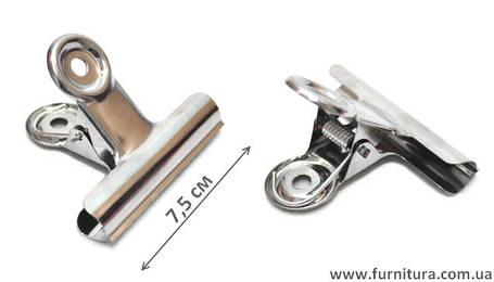 Зажим-прищепка для ткани маленькая, фото 2