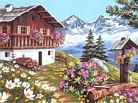 """Картина по номерам """"Домик в горах"""""""
